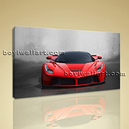 Amazon.com: Large La Ferrari Other On Canvas Print Wall Home Decor ...