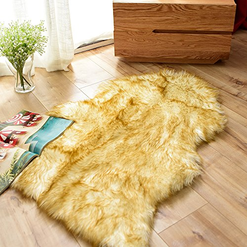 Carvapet Luxury Soft Faux Sheepskin Chair Cover Seat Pad