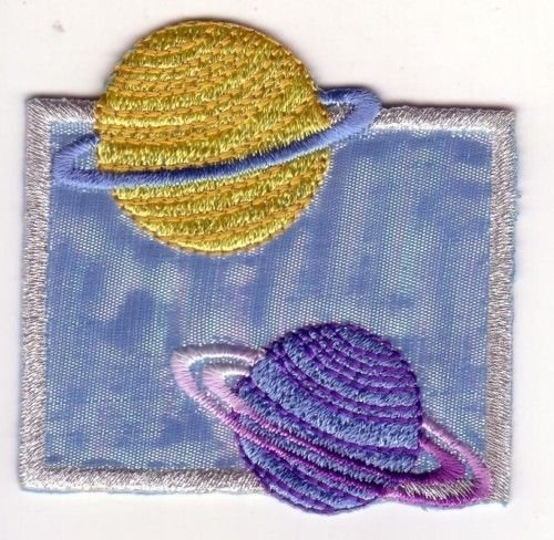 Space Planets Saturn Neptune Embroidery Patch