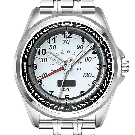 Reloj de Pulsera Personalizado para Hombre, a la Moda, Resistente al Agua, Diamante_356.Cool, Divertido, Divertido y Bonito Relojes: Amazon.es: Relojes