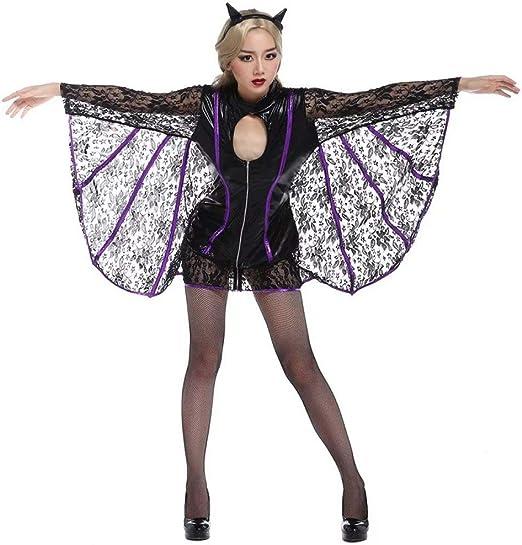 FUPOA Disfraz de Demonio de Demonio de murciélago de Mujer Adulta ...