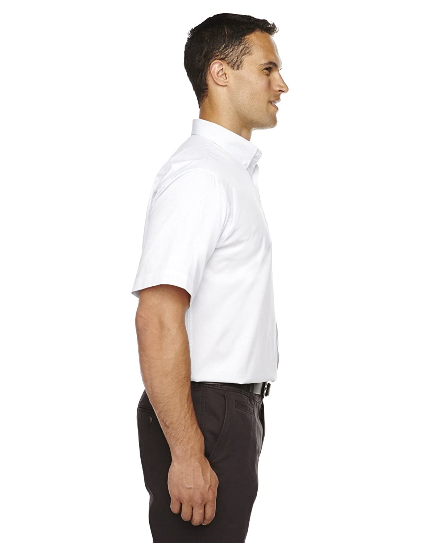 4XT Core 365 Mens Tall Optimum Short-Sleeve Twill Shirt WHITE 701