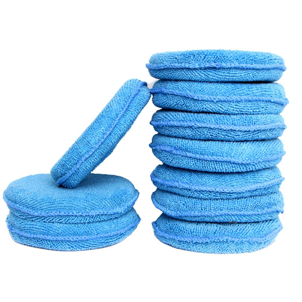 styleinside 10 x Car Waxing Polishing Microfiber Foam Sponge Applicator Pads Cleaning Accessories