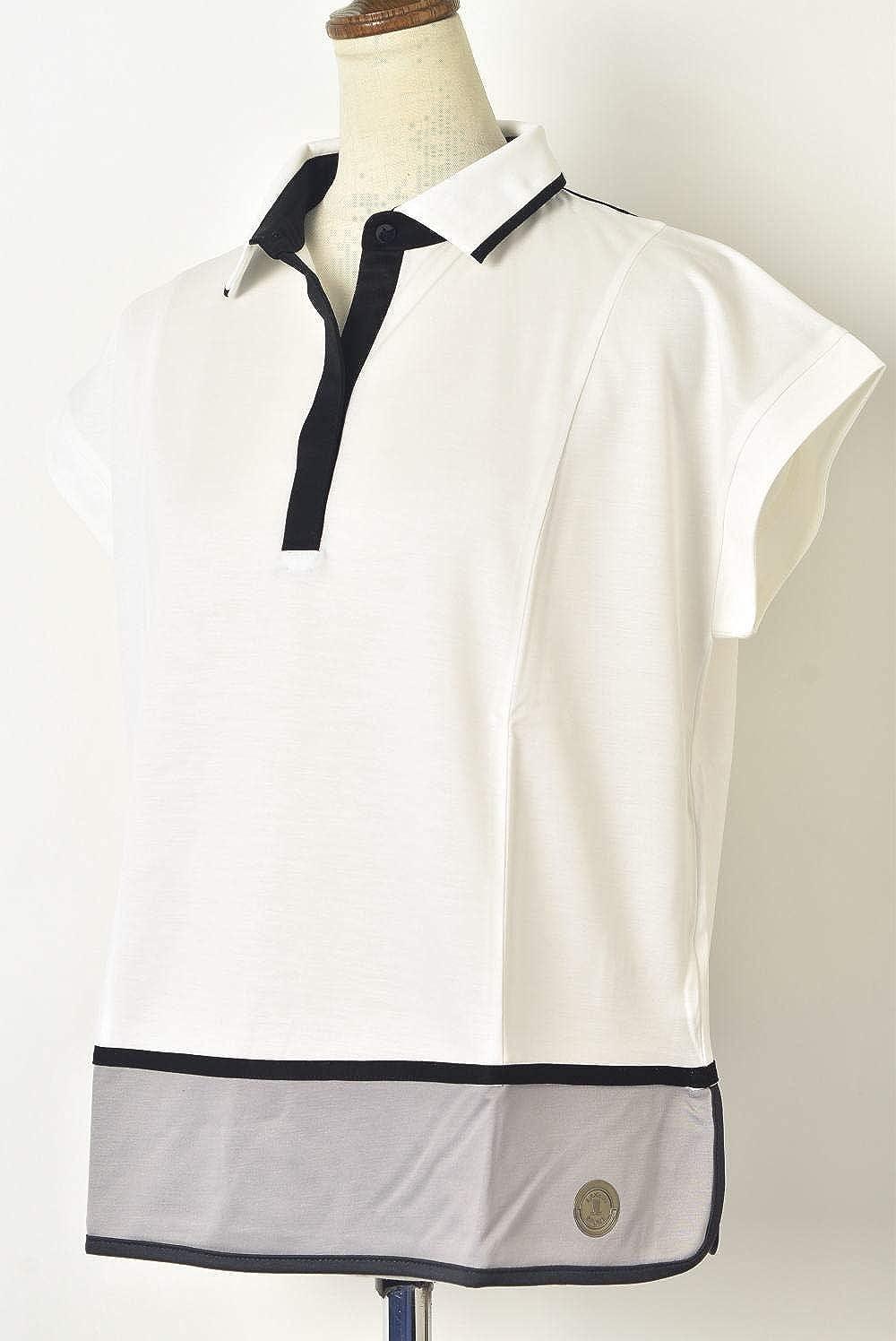 (ランバン スポール) LANVIN SPORT 半袖ポロシャツ トップス レディース スポーツ ゴルフ vln157244n L(40) ホワイト(WH01) B07SDLHNGW