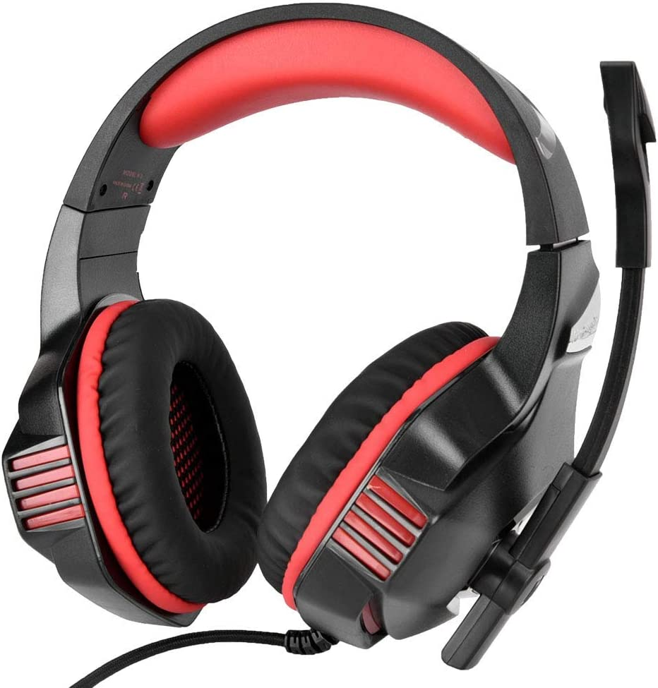 3.5mm Competitive Game Wired Headset with soundproof Microphone and LED Lighting for Comfortable wear Hakeeta USB