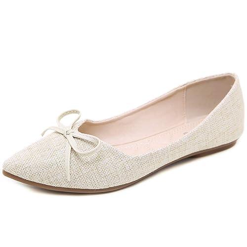 9a36f662f4bcf Women's Classic Pointy Toe Shoes Ballet Slip on Low Flats Classic Flats  Dress Flat Shoes
