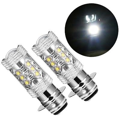 80W High Power H6 HID Led Headlight Bulbs Super White For 2004-2009 Yamaha YFZ450 YFZ 450: Automotive