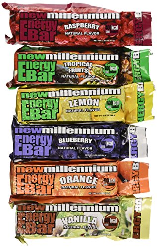 Millennium Energy Bars Assorted Flavors 18- pack Including Emergency Guide