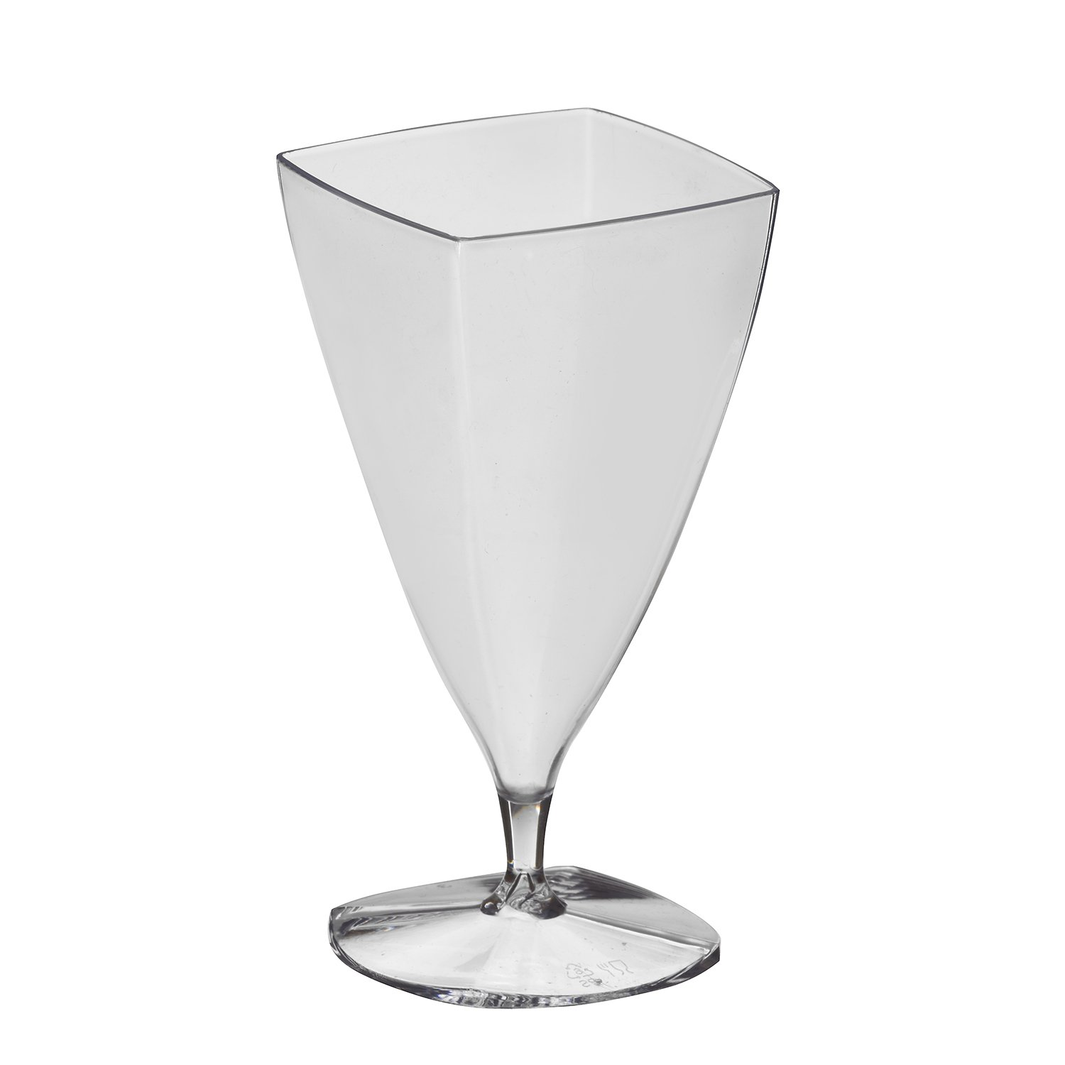 Party Essentials N216451 Mini Hard Plastic Square Flutes, Clear, Plastic (Pack of 144)