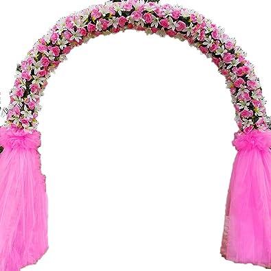 SUNNAIYUAN Jardín de Las Rosas Planta trepadora, Arco de la Boda Soporte metálico de reutilización 240 cm de Ancho 240 cm de Altura Color múltiple (Color : B): Amazon.es: Joyería