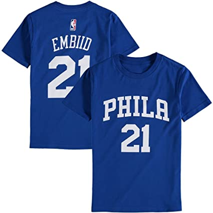 Outerstuff Joel Embiid Philadelphia 76ers Youth Royal Name and Number  Player T-Shirt X- 6a1f3a0cf29