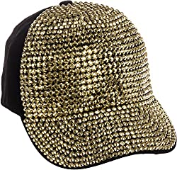 Rhinestone Studded Adjustable Cotton Baseball Cap