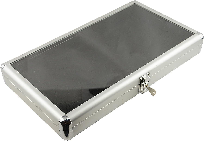 Gem Storage Textured Top Case 25 Jars Black Foam