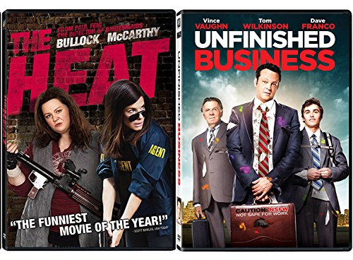The Heat & Unfinished Business Double Feature DVD Fun Action Comedy movie Set Combo Double Edition