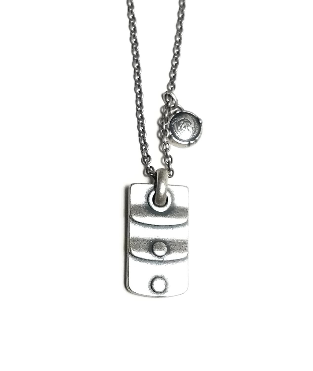 Diesel Stainless-Steel Biker Necklace Dx0758040