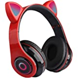 Auriculares Inalámbricos Bluetooth para Niños, 12 Horas en Espera, Bonitos Auriculares Bluetooth 5.0 para Luegos con Orejas d