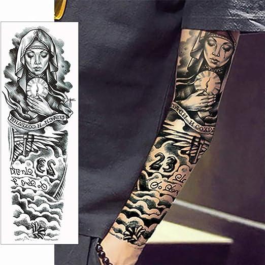 tzxdbh 2pcs-Brazo Completo Tatuaje Pegatina Brazo Tatuaje ...