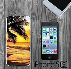 Beach Scene at Sunset Water Palm Tree Custom made Case/Cover/Skin Case For Ipod Touch 5 Cover