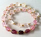 full 12 inch strand Brand new Natural Pink TOURMALINE Smooth twisted nuggets, 5x6 - 7x12 mm