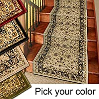 Marash Luxury Collection 25 Stair Runner Rugs Stair Carpet Runners (Ivory)