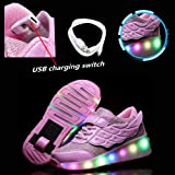Zcoins Boys Girls LED Light Up Shoes Sneakers Kids