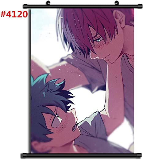 Per Anime Boku No Hero Academia Midoriya Izuku Todoroki Shoto Bakugou Katsuki Yaoi Manga Adesivo murale Scroll Room Home Decoration Wall Art #4807,40x60cm//16x24inches