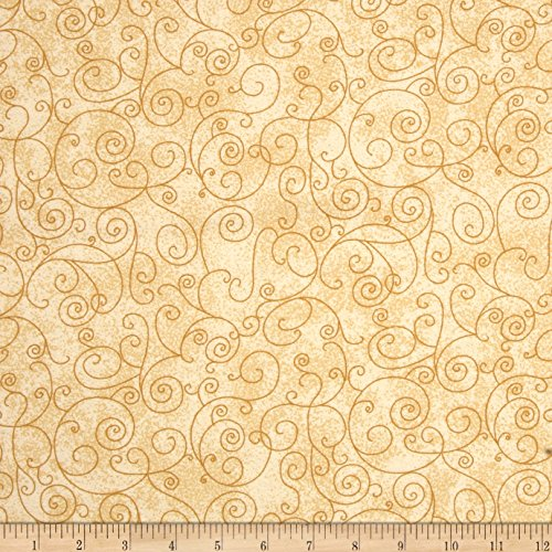 (Westrade Textiles 110in Wide Flannel Quilt Back Willow Ivory Fabric by The Yard)