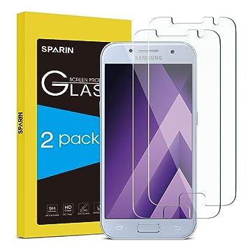 SPARIN [2 Unidades] Protector Pantalla Compatible con Samsung A3 ...