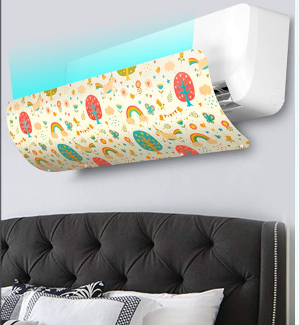 Yingpai-Air Conditioner Deflector Deflettore del condizionatore dAria Prevenire laria dal soffiare Dritta Adatta per condizionatori dAria Inferiori a 90 cm di Lunghezza