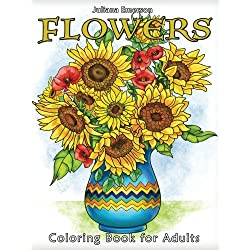 Flowers: Coloring Book for Adults