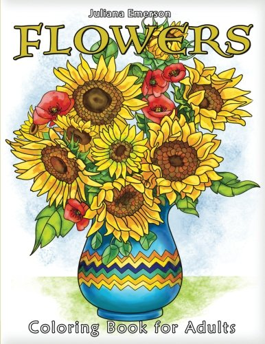 Flowers Coloring Book Adults Happy product image