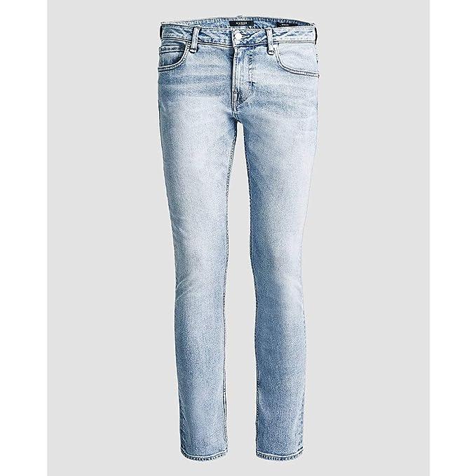 Guess Jeans Pantaloni Uomo Miami Super Skinny Chiaro Stretch