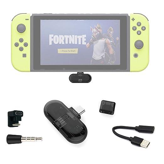 Fortnite Adaptador Bluetooth, Route + Pro, Mini USB C Adaptador de Audio, Inalámbrico