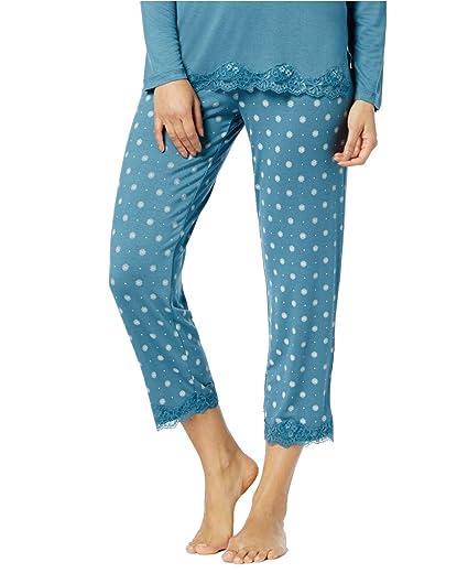 3d9269b69990 Image Unavailable. Image not available for. Color: Alfani Women's Lace-Trim Printed  Pajama Pants ...