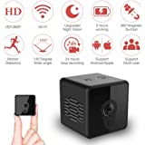 Mini Spy Hidden Camera, Mica House 1080P Wireless Portable Action Camera/Motion Detection/Night Version, Real-Time View Security Camera for Home Office Surveillance Outdoor Camcorder, 16GB Included