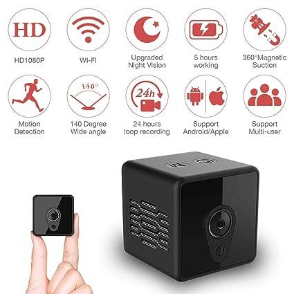 Mini cámara espía Oculta, cámara portátil Mica House1080P, detección de Movimiento/versión Nocturna