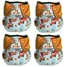 BambooDrive Bamboo Charcoal All In One Cloth Diaper Set One Size (4 Diapers) (Orange)