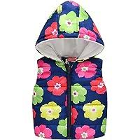 H.Eternal - Chaleco con capucha para niños, diseño floral con cremallera completa, forro polar, abrigo para niños de 0 a…