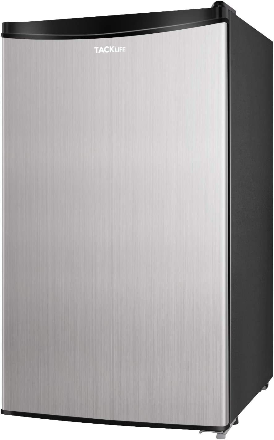 Compact Refrigerator, TACKLIFE 3.2 Cu Ft Mini Fridge with Freezer, Energy Star Rating, 37DB Low noise, for Bedroom Office or Dorm with Adjustable Temperature, Removable Glass Shelves, Silver- MVSFR321