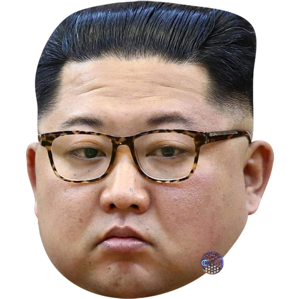 Card Face and Fancy Dress Mask Celebrity Mask Kim Jong-Un Glasses