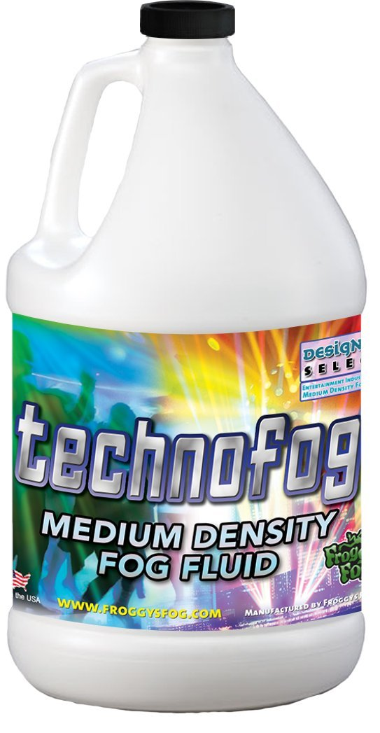 Techno Fog - DJ Party Club & Mix - Premium Quality Fog Juice - 1 Gallon - Perfect Density Fog Machine Fluid for Event Lighting, Parties & DJs - American Made - Water Based Liquid for Small 400 Watt to Higher Wattage 1500 Watt Foggers