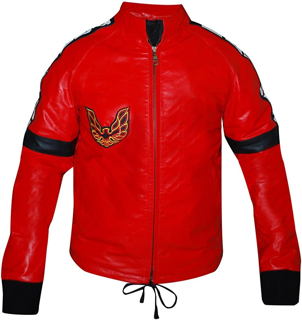 UGFashions Smokey and Bandit Burt Red Bomber Leather Jacket