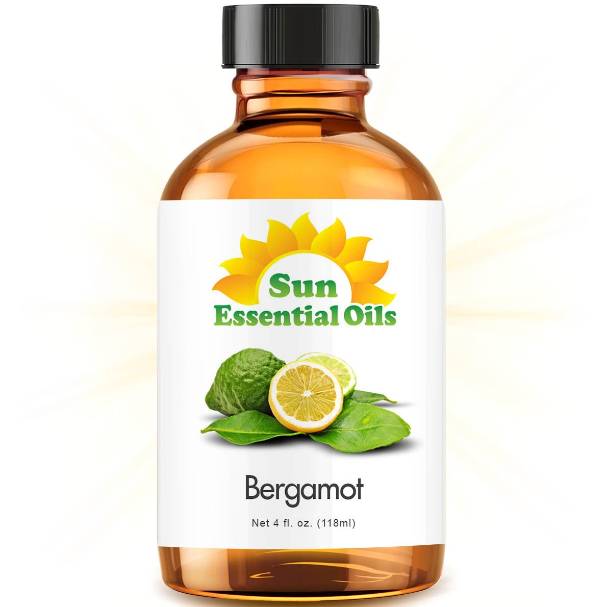 Bergamot Essential Oil (Huge 4oz Bottle) Bulk Bergamot Oil - 4 Ounce