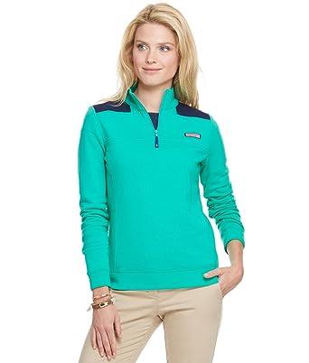 a1ea0c768c3cef Amazon.com: New Vineyard Vines Basic Shep Shirt Camden Green S Womens  Pullover: Clothing