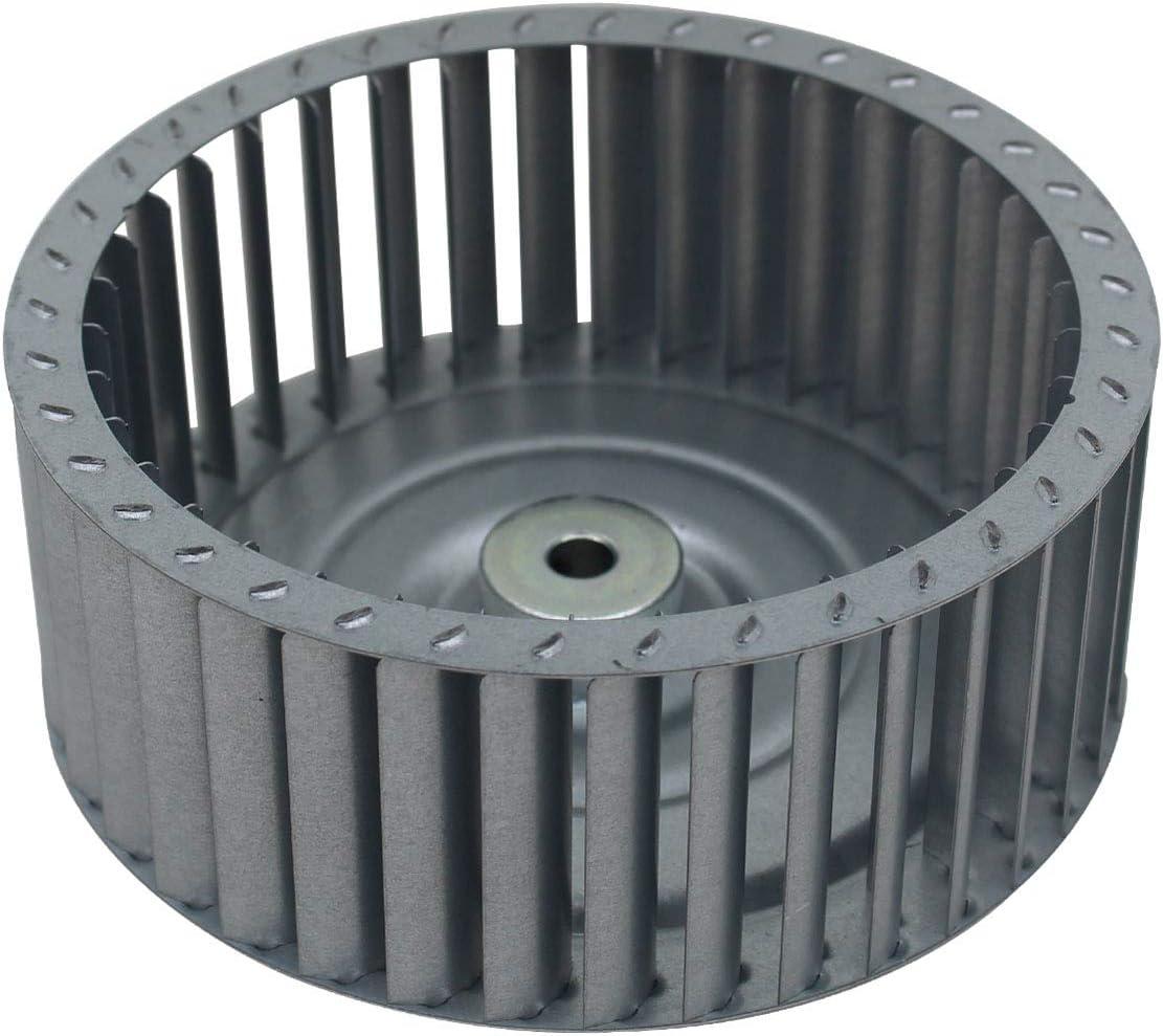 Turbina secador Φ 97 120 133mm helice motor ventilador secadora aire turbina extractora de cocina estufa turbina ventilador aire caliente industrial (120x34mm - 8mm - Inox)