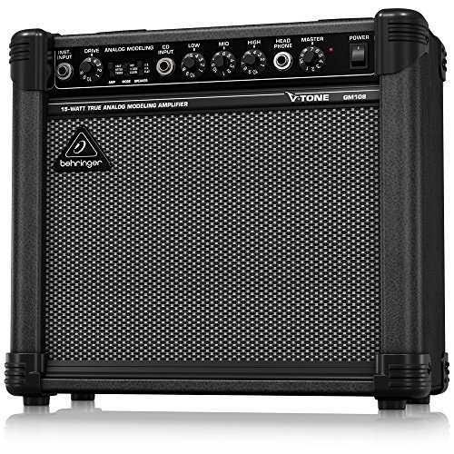 Amp V-tone Guitar - Behringer V-Tone Gm108 True Analog Modeling 15-Watt Guitar Amp With 8