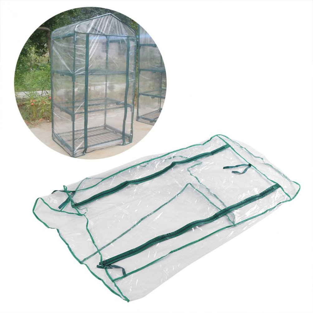 3 Tier Mini Greenhouse Cover Replacement Accessories, Gardening House Household Plant Cover Green House Warmhouse Warm Garden Tent for Indoor Outdoor Seeds Herb Flower Growing (Shelf Not Included) Keersi