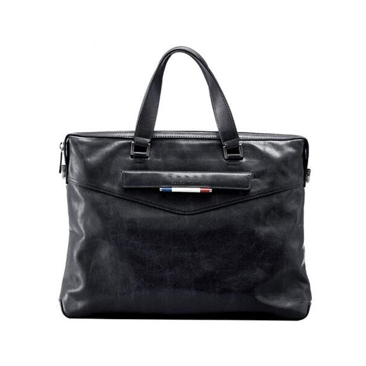 ブリーフケース、ビジネスカジュアルコンピュータバッグ、ファッションメンズハンドバッグ、ショルダーメッセンジャーバッグ、ダークブルーサイズ:37 * 6 * 28 cm B07RBKPH8N ダークブルー
