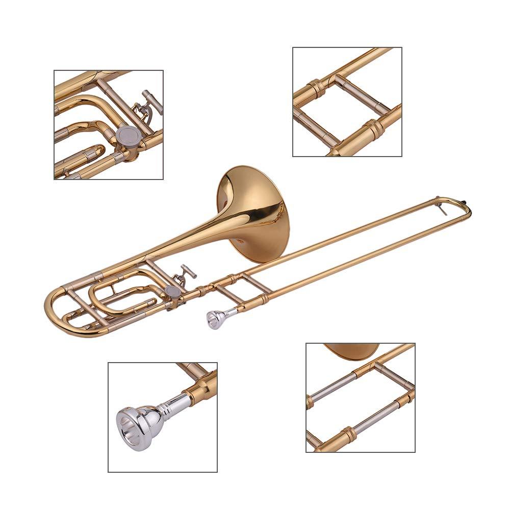 Festnight Trombone, Intermediate Bb Flat Tenor Slide Trombone with F Attachment Including Mouthpiece Carry Case by Festnight (Image #6)
