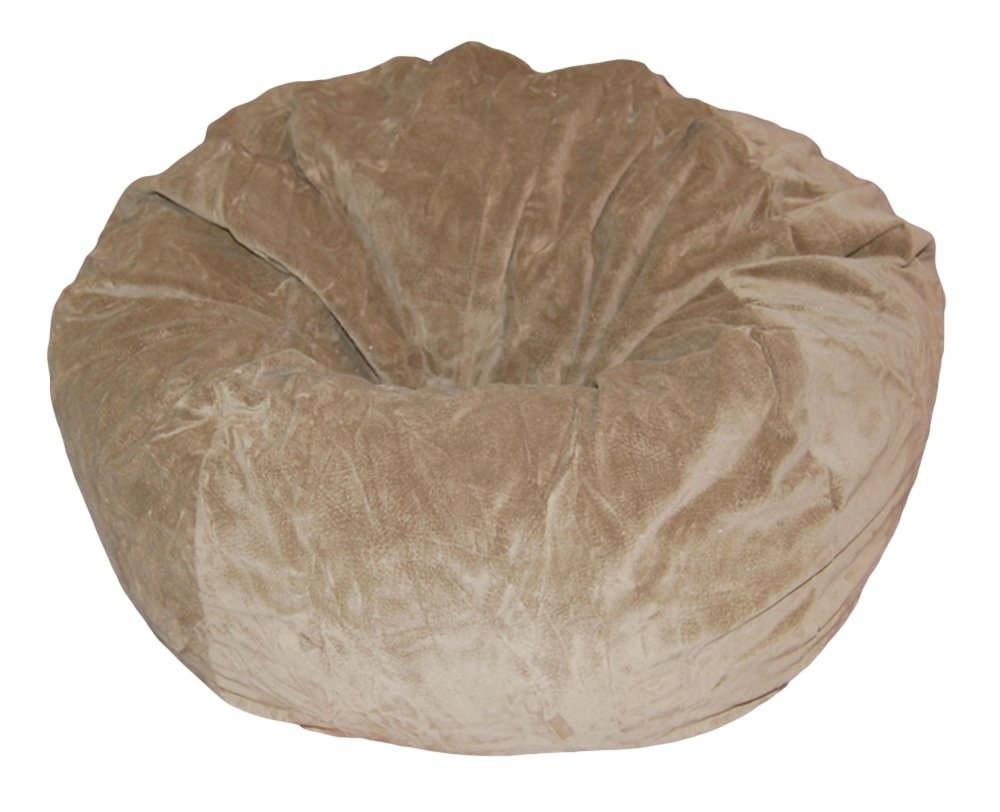 Ahh! Products Tan Microsuede Washable Large Bean Bag Chair Plush